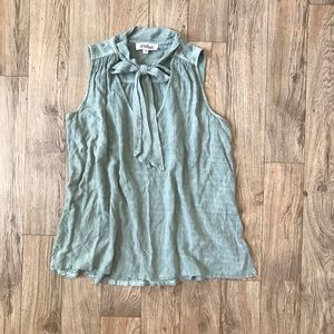 Distressed Olive Green Top